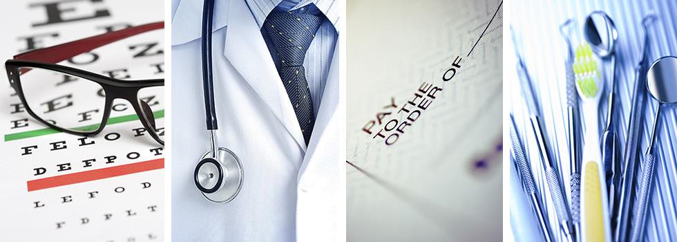 vision, medical, reimbursement, dental images